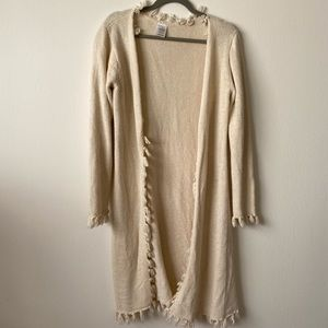 Sundance cream vintage long sweater cardigan